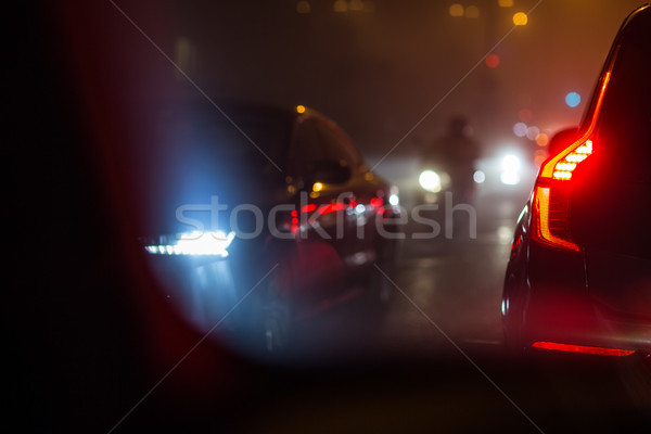 Evening/Night City car traffic Stock photo © lightpoet