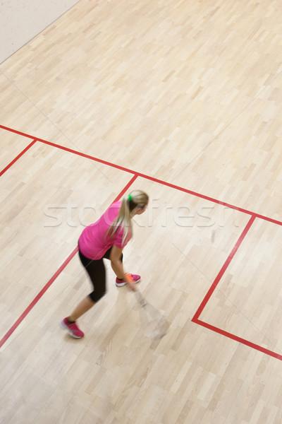 Deux Homme squash joueurs rapide action Photo stock © lightpoet