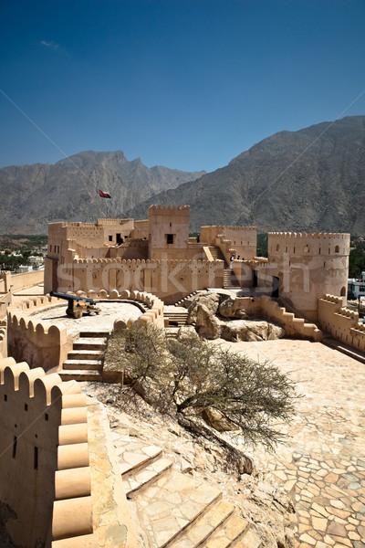 форт Оман гор архитектура тропические горячей Сток-фото © lightpoet