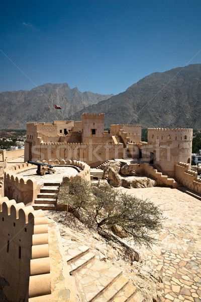The Nakhl Fort in Al Batinah, Oman Stock photo © lightpoet