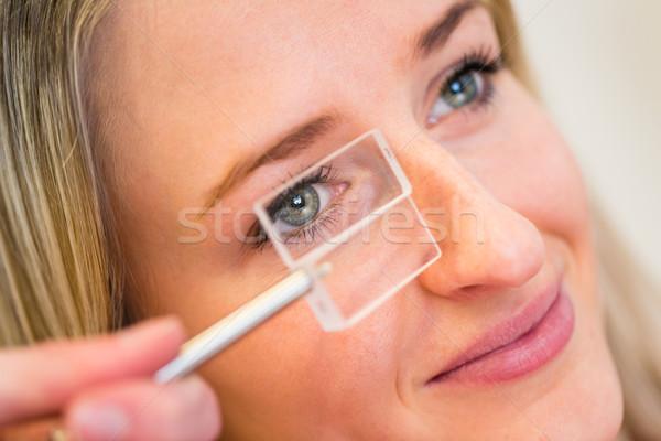 довольно глазах цвета изображение Сток-фото © lightpoet