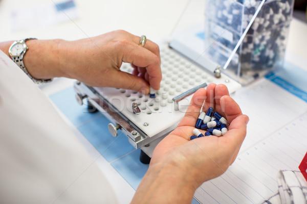 medical pills industry factory and production indoor Stock photo © lightpoet