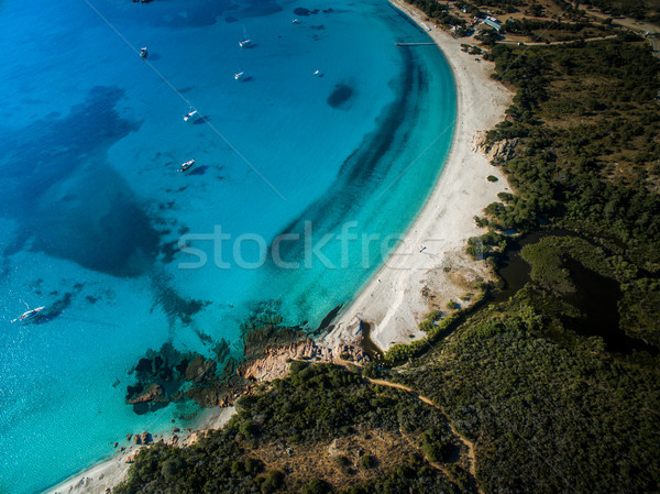 ビーチ コルシカ島 フランス 空 雲 ストックフォト © lightpoet