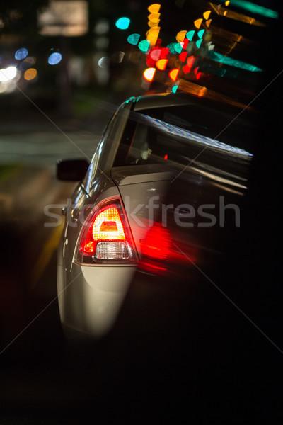 Night road traffic in a big city Stock photo © lightpoet
