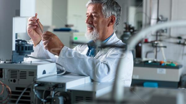 Senior chemistry professor/doctor  in an analytical chemistry lab Stock photo © lightpoet