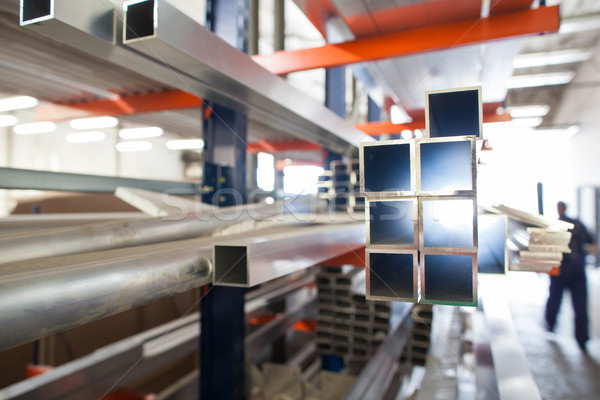 Aluminium products in a hall of industrial factory Stock photo © lightpoet