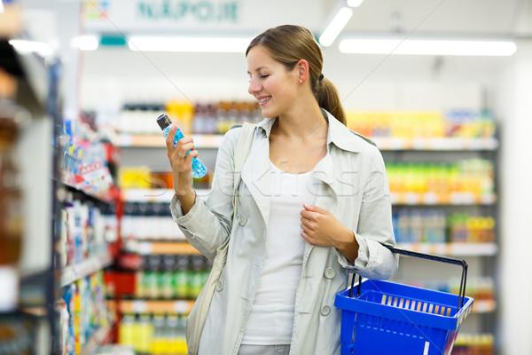 Bella shopping alimentari colore donna Foto d'archivio © lightpoet