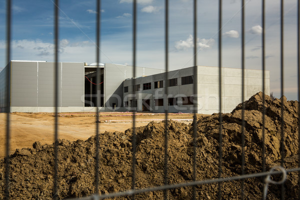 Construction site with a fence around it Stock photo © lightpoet