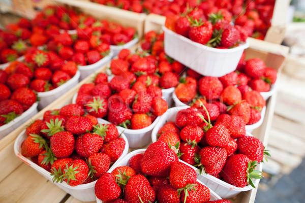 Stock photo: farmers market series - fresh strawberries