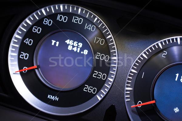 Modern car dashboard close-up view Stock photo © lightpoet
