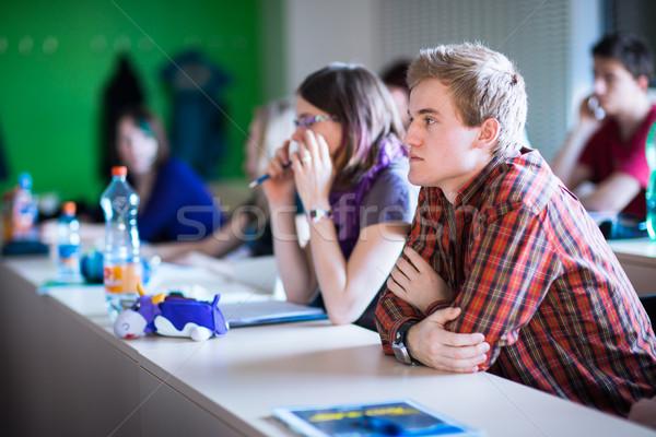 College studenten vergadering klas klasse ondiep Stockfoto © lightpoet