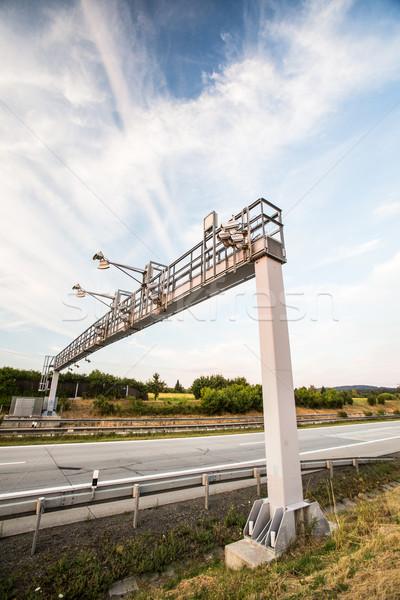 トール ゲート 道路 車 デザイン 青 ストックフォト © lightpoet