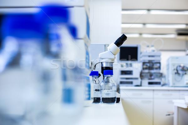 химии лаборатория мелкий Focus медицинской Сток-фото © lightpoet