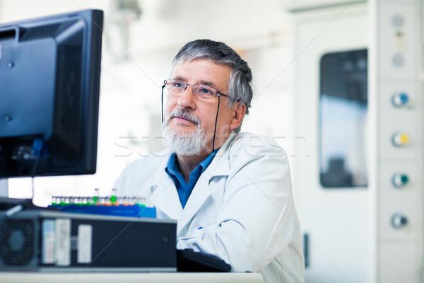 Сток-фото: старший · исследователь · лаборатория · рабочих · эксперимент