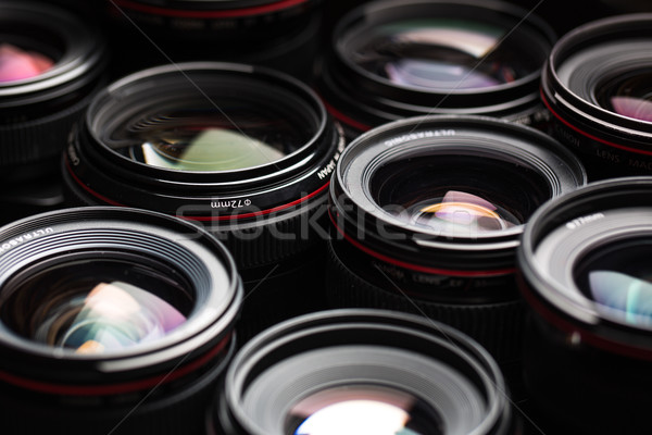 Foto d'archivio: Moderno · fotocamera · lenti · riflessioni · basso · chiave