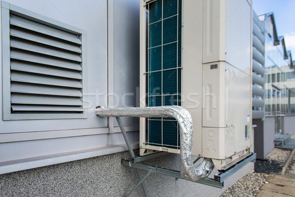 Aire acondicionado moderno edificio tecnología industrial máquina Foto stock © lightpoet