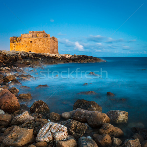 Night view of the Paphos Castle (Paphos, Cyprus) Stock photo © lightpoet