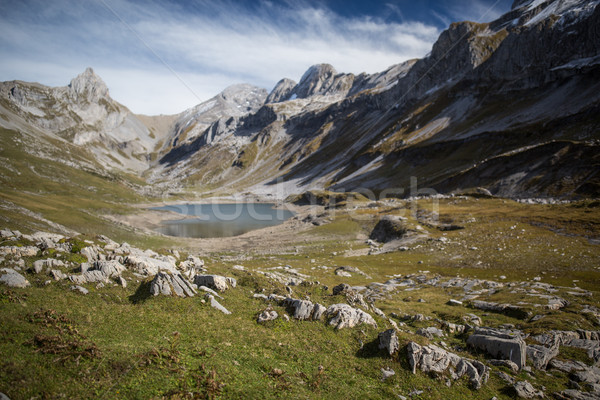Splendid mountain lake in Swiss Alps, Glattalpsee Stock photo © lightpoet