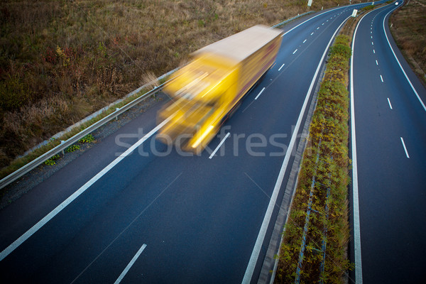 highway traffic - motion blurred truck on a highway/motorway Stock photo © lightpoet