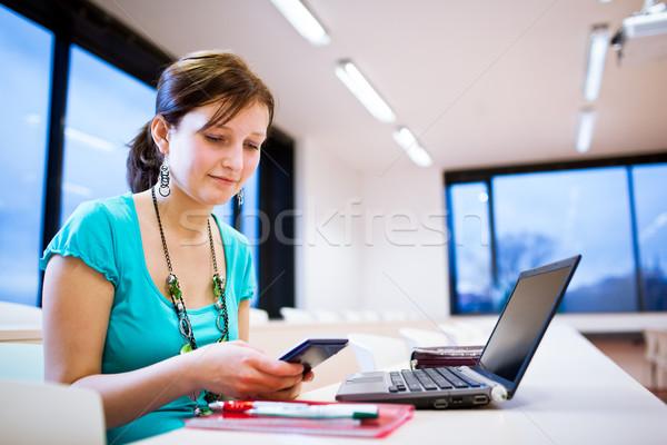 かなり 小さな 女性 学生 ノートパソコン 大学 ストックフォト © lightpoet