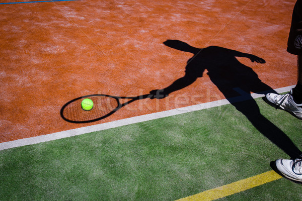 Ombre action court de tennis image balle de tennis Photo stock © lightpoet