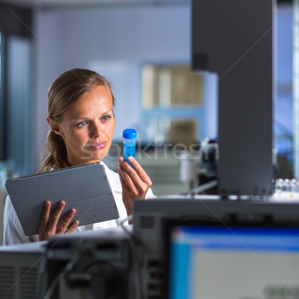 Portrait of a female researcher doing research in a lab Stock photo © lightpoet