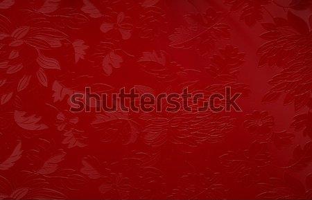 Rot floral Motiv Textur Hintergrund grünen Stock foto © lightpoet