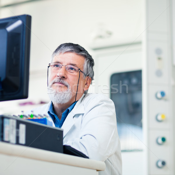 Photo stock: Supérieurs · chercheur · laboratoire · travail · expérience