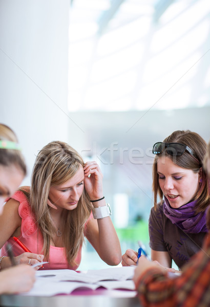 Group of college/university students during a brake  Stock photo © lightpoet