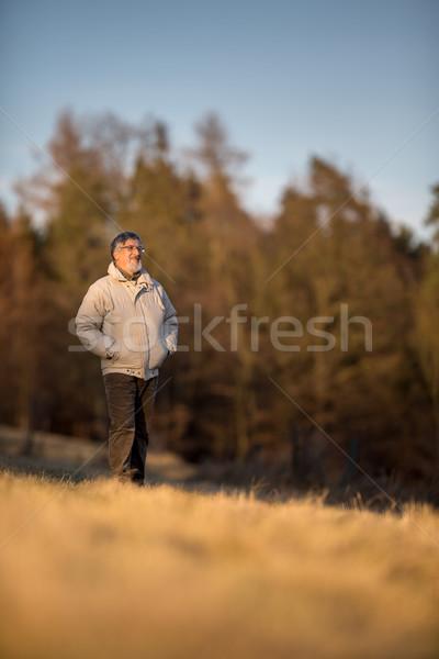 Portrait of a senior man outdoors Stock photo © lightpoet