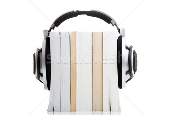 слушать книгах hd качество привет наушники Сток-фото © lightpoet