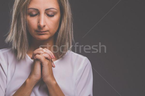 Praying Woman Stock photo © lightpoet