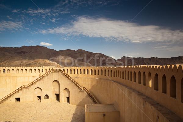Oszałamiający widoku fort góry ogłoszenie niebo Zdjęcia stock © lightpoet