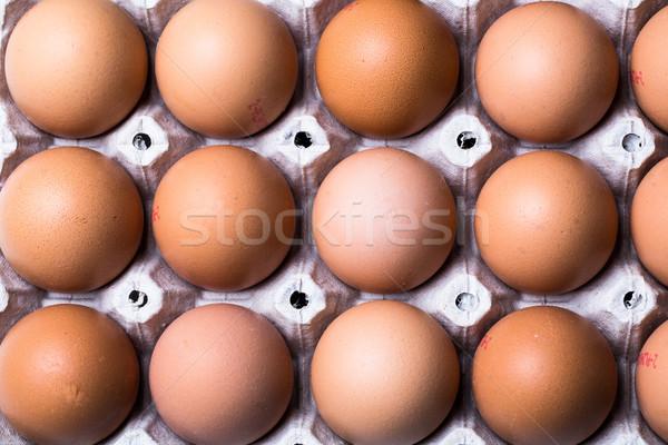 Eieren witte voedsel natuur gezondheid groep Stockfoto © lightpoet
