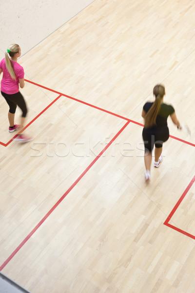 два женщины сквош быстро действий Сток-фото © lightpoet