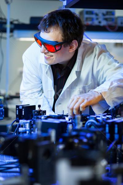 scientist doing research in a quantum optics  lab  Stock photo © lightpoet