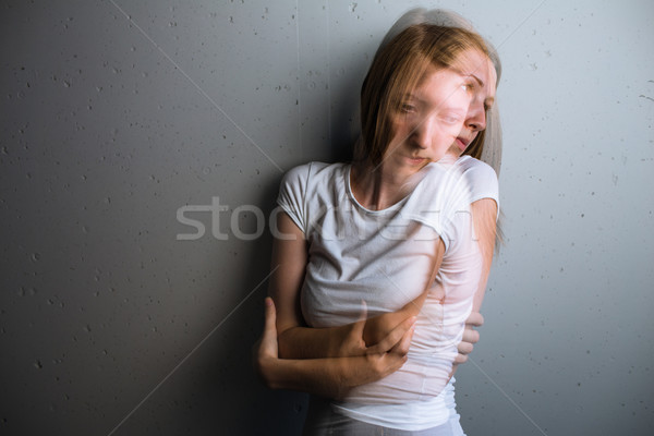 Young woman suffering from a severe depression/anxiety Stock photo © lightpoet