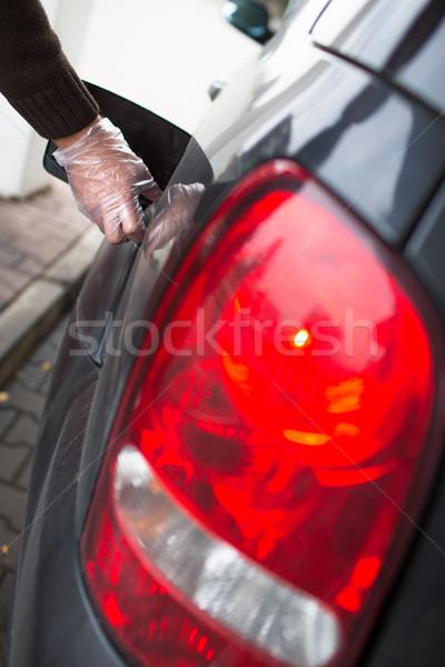 ストックフォト: 車 · ガソリンスタンド · ビジネス · 建物 · 建設 · 抽象的な