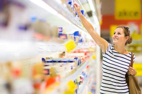красивой торговых дневнике продукции продуктовых Сток-фото © lightpoet