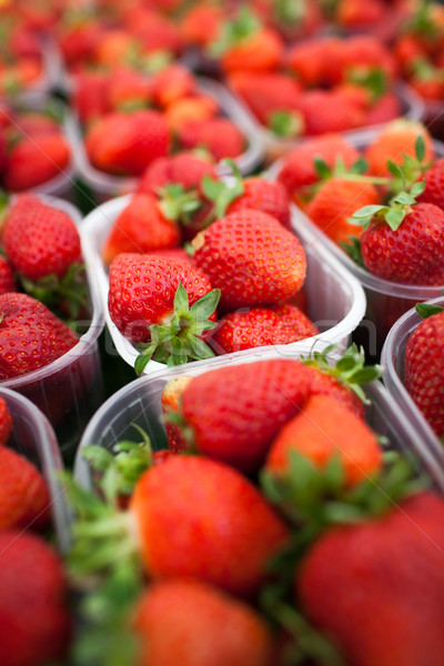 farmers market series - fresh strawberries  Stock photo © lightpoet