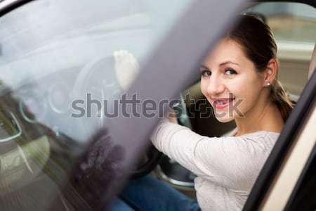 портрет красивой молодые невеста ждет автомобилей Сток-фото © lightpoet