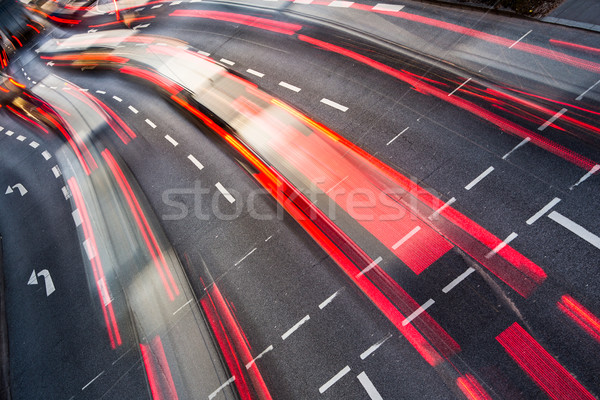 Stockfoto: Beweging · wazig · stad · weg · verkeer · kleur