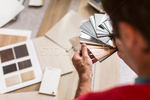 человека право бизнеса стороны здании Сток-фото © lightpoet