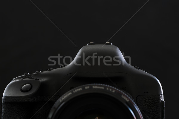 Professional modern DSLR camera low key stock photo/image Stock photo © lightpoet