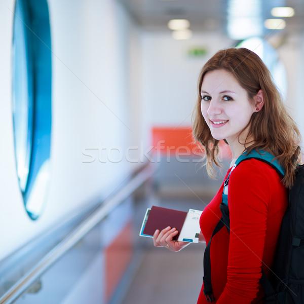 Retrato embarque aeronaves puente cielo Foto stock © lightpoet