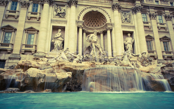 Fontana di Trevi - the famous Trevi fountain in Rome, Italy Stock photo © lightpoet