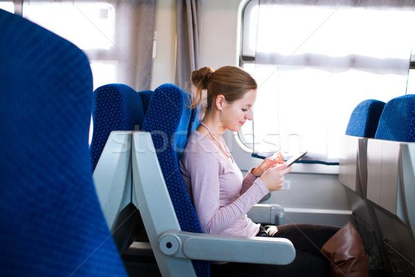 Сток-фото: поезд · бизнеса · счастливым