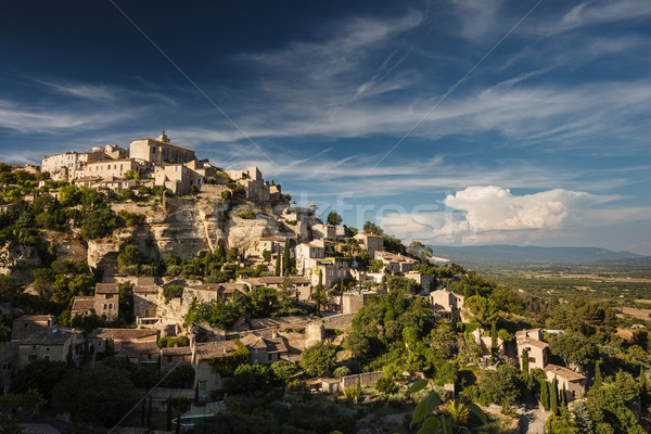 View of Gordes - one of the most beautiful villages in France Stock photo © lightpoet