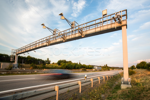 Car passing through a toll gate on a highway  Stock photo © lightpoet