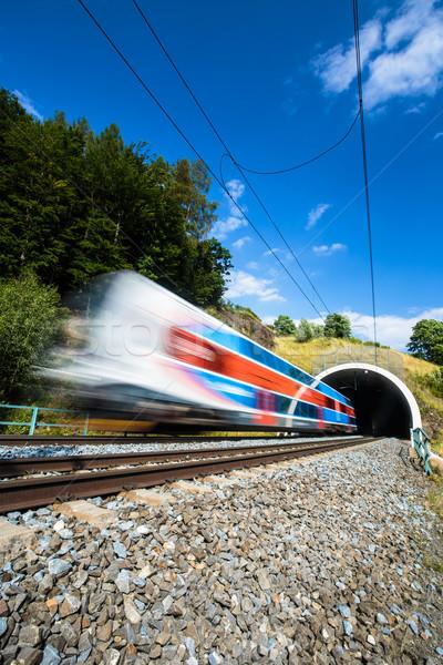 高速 列車 トンネル 夏 日 運動 ストックフォト © lightpoet